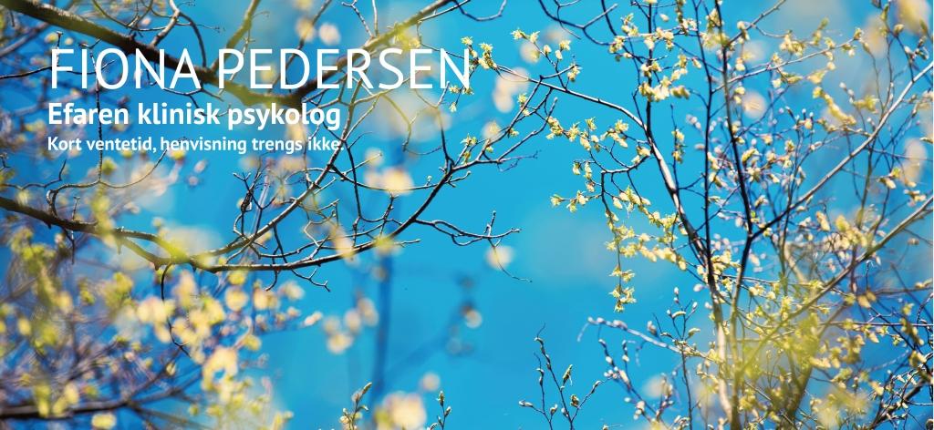 Fiona Pedersen efaren klinisk psykolog